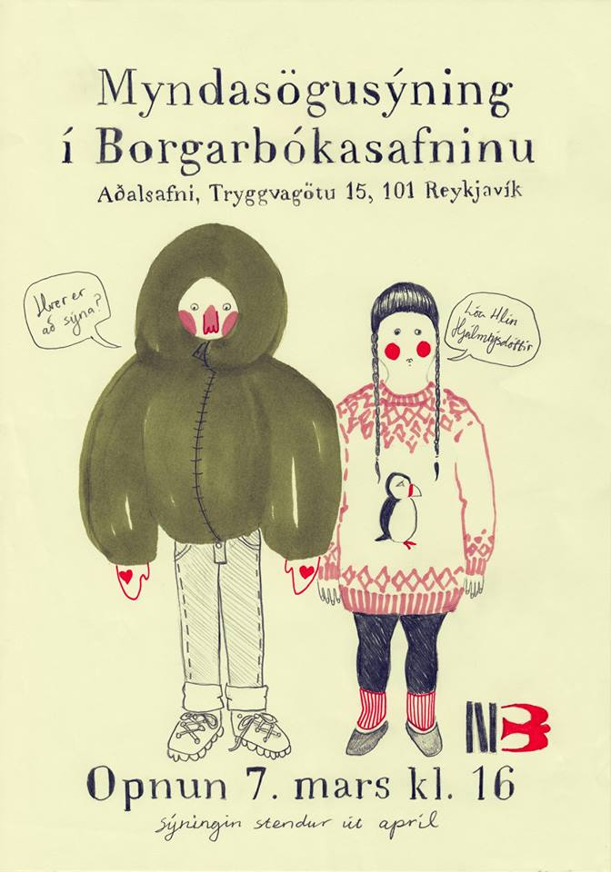 Lóa á Borgarbókasafninu - auglýsing